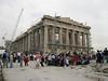 The Parthenon in scaffolding  [Athens]